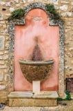 偏僻的喷泉在鲁西永,普罗旺斯,法国 图库摄影