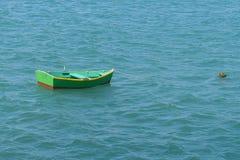 偏僻的小船 库存照片