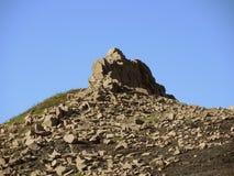 偏僻的岩石 库存照片
