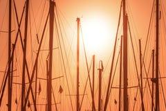 偏僻的帆柱 免版税库存照片
