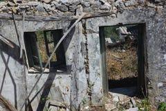 偏僻的房子墙壁 免版税图库摄影