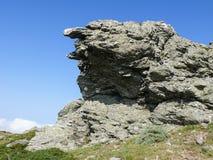 偏僻的摇滚的Gennargentu国家公园 免版税库存图片
