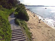 偏僻的沙滩 库存图片