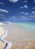 偏僻的海滩 库存图片