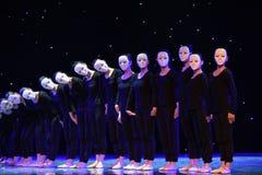 偏僻的舞蹈家现代舞蹈 库存照片
