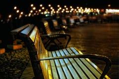 偏僻的长凳Bokeh 库存图片