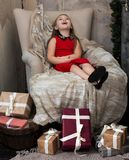 做一个愿望圣诞节假日 库存照片