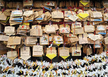 做一个愿望用一个亚洲传统方式 库存图片
