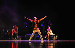 做一个空的展示力量奥秘探戈舞蹈戏曲的主任这身分 库存图片