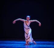 做一个空的展示力量差事成迷宫现代舞蹈舞蹈动作设计者玛莎・葛兰姆 免版税库存照片