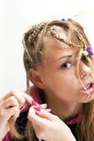 做一根头发 图库摄影