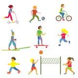 做不同的体育-滑稽的设计的人们 向量例证