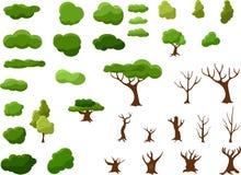 做与各种各样的元素的一棵树 免版税库存图片
