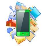 做与您的智能手机的另外类型 免版税图库摄影