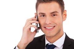 做人电话的企业购买权 库存照片