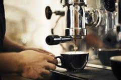做企业咖啡馆Barista概念的咖啡 免版税图库摄影
