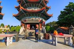 做优点在Yuanxuon道士寺庙 免版税图库摄影