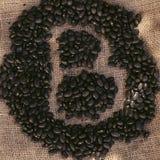 做信件B的黑豆 免版税库存图片