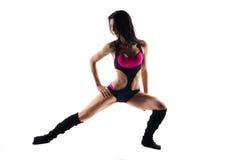 做健身的妇女被隔绝 免版税库存图片