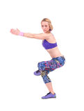 做健身锻炼的体育少妇 库存图片