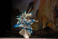 """做光滑的读书Mu Guiying北京Opera""""妇女将军杨Family† 图库摄影"""