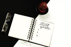做名单和目标 免版税库存照片