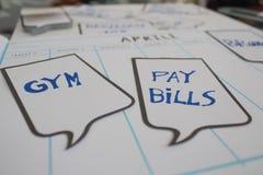 做和排进日程 免版税库存照片