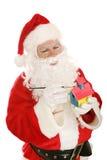 做圣诞老人玩具 免版税库存图片