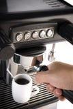 做在咖啡壶的浓咖啡 图库摄影