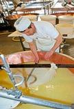 做在帕尔马的巴马干酪 库存图片