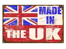 做在英国搪瓷标志 皇族释放例证