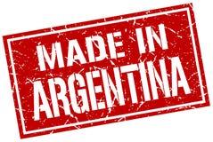做在阿根廷邮票 向量例证
