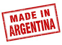 做在阿根廷邮票 皇族释放例证