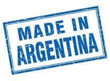 做在阿根廷邮票 库存例证