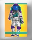 做在EPS 10的宇航员一selfie 图库摄影