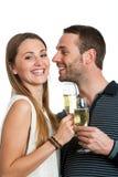 做多士用香槟的Hansome夫妇。 库存图片