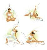 做女子瑜伽 免版税库存照片