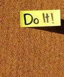 做它! 免版税图库摄影