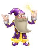 做完善的姿态的巫术师 免版税库存照片