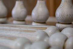 做家具由木头 工作木匠 木匠业工具 免版税库存照片