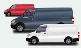 做广告和公司本体的模板 运输, van collection 免版税图库摄影
