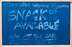 做广告的黑板 免版税库存照片