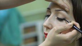 做式样` s构成的化妆师在沙龙 股票录像