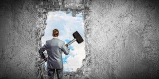 做您的在事务的方式 混合画法 免版税库存图片