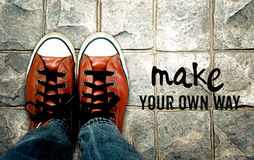 做您自己的方式,启发行情 图库摄影