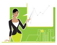 做报表妇女的商业 免版税库存照片