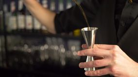 做新酒精饮料的男服务员 股票录像