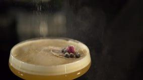 做新鲜的酒精鸡尾酒的男服务员 股票录像