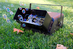 做机器吹的泡影的泡影 库存图片