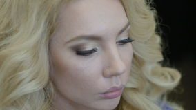 做构成模型的化妆师 股票录像